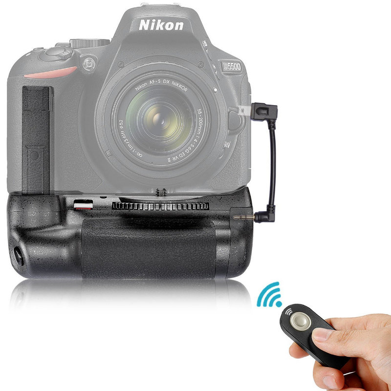 Neewer Nikon D5500 D5600 Battery Grip Vertical Shutter Release with Infrared Remote Control