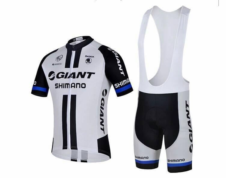ชุดเอี้ยมแขนสั้นปั่นจักรยานลายทีม GIANT SY6 กางเกงเป้าเจล 3 D