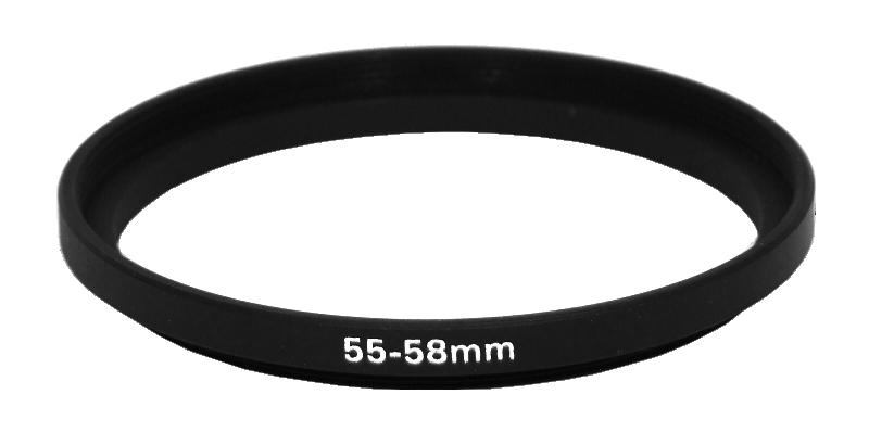 Step Ring แหวนแปลงขนาดหน้าเลนส์ ขนาด 55-58 mm.