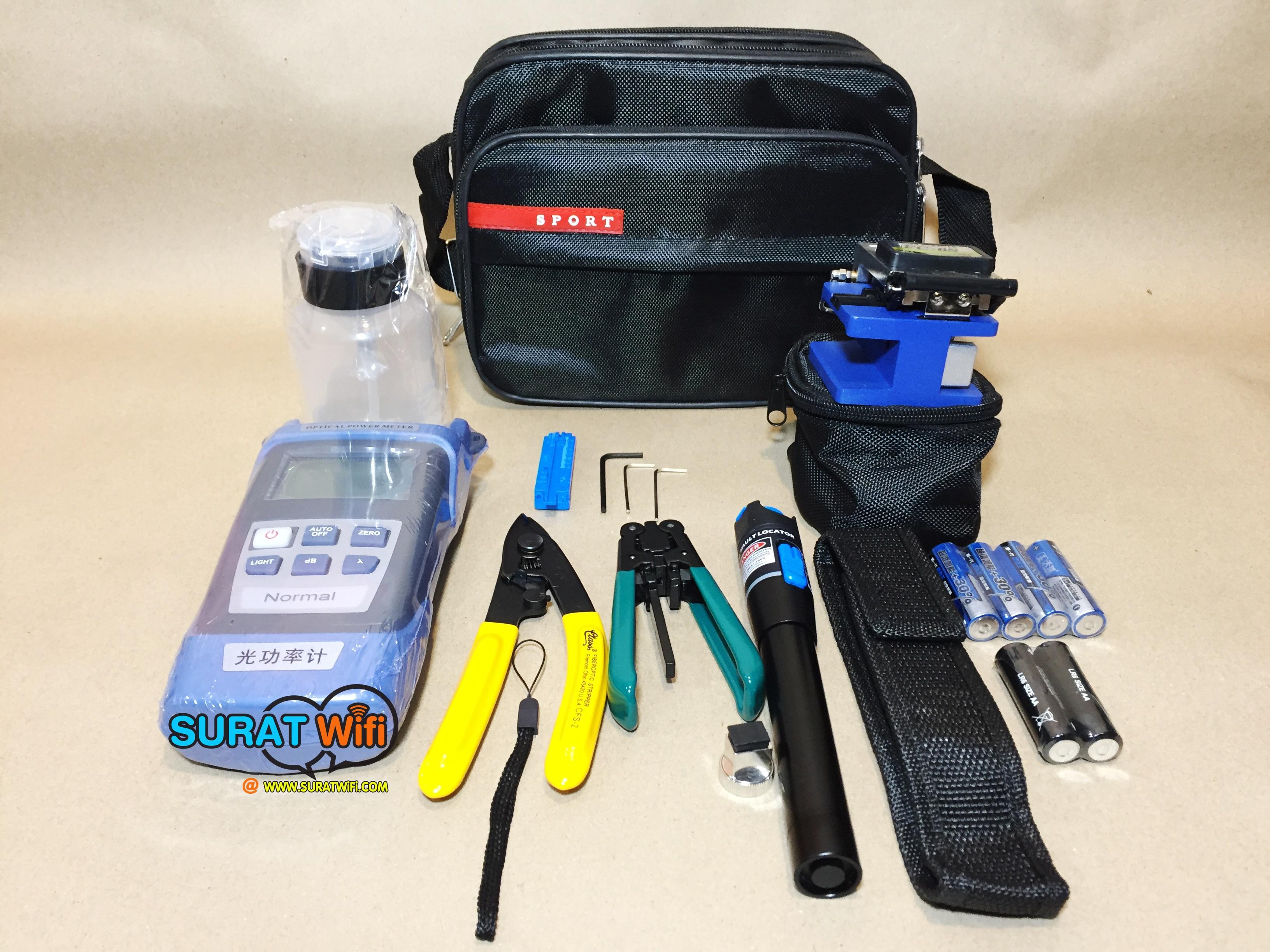 Optic Tool kit เครื่องมือเข้าหัวไฟเบอร์ออฟติก FTTx Fiber