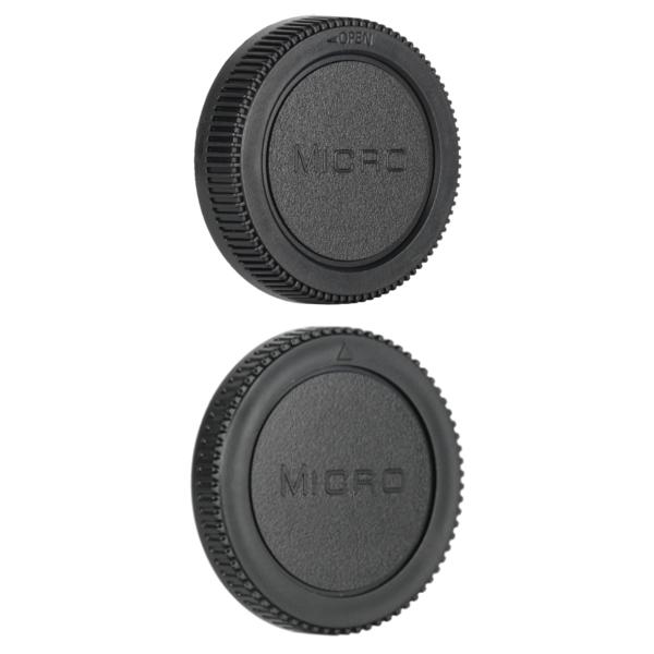 Micro 4/3 Rear Lens Cap ฝาปิดท้ายเลนส์ + Body Cap ฝาปิดบอดี้ Olympus Panasonic MFT M4/3