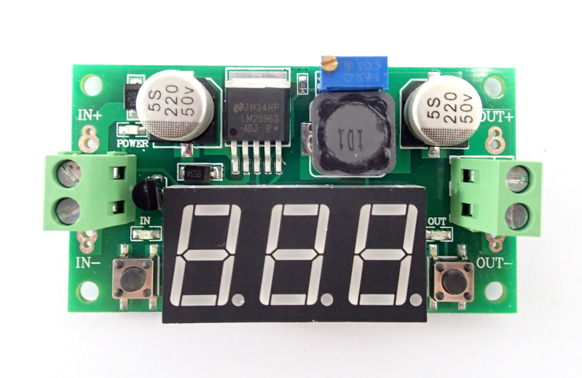 Step-Down LM2596S built-in Voltmeter [4-40V to 1.2-37V] 2A 20W