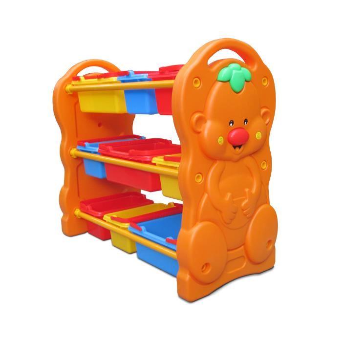 Thaiken ชั้นใส่ของเล่น รูปหมี รุ่น 210-1 (สีส้ม)