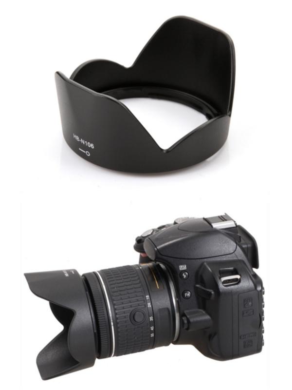 Nikon Lens Hood เทียบเท่า HB-N106 for AF-P DX NIKKOR 18-55mm f/3.5-5.6G VR, 1 NIKKOR VR 10-100mm f/4-5.6