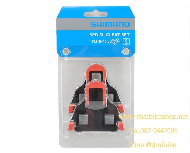 คลิ๊ปติดพื้นรองเท้า Cleat Sets บันใดเสือหมอบ รุ่น SM-SH10, สีแดง