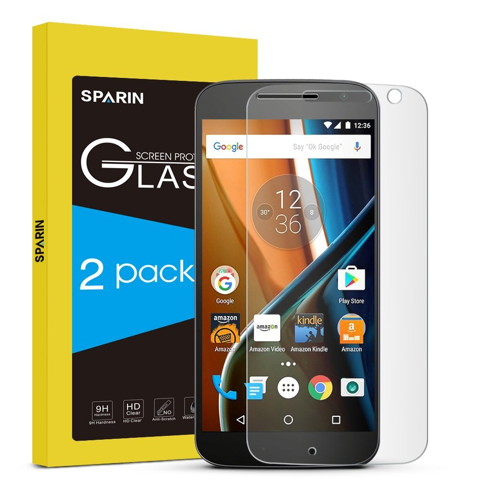 SPARIN [2 Pack] Moto G4 Screen Protector [Not for Moto G4 Plus]