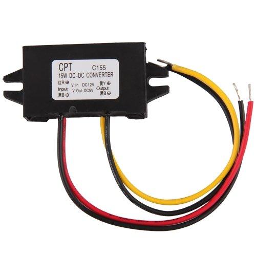 กล่องแปลงไฟในรถยนต์ 12V เป็น 5V 3A 15W