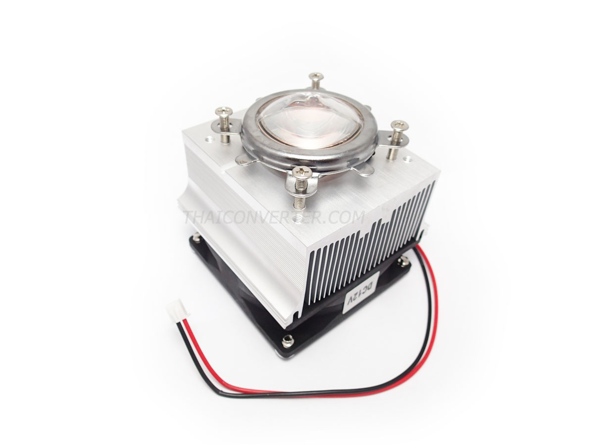 40mm LED Heat sink with Lens Kit [90°]