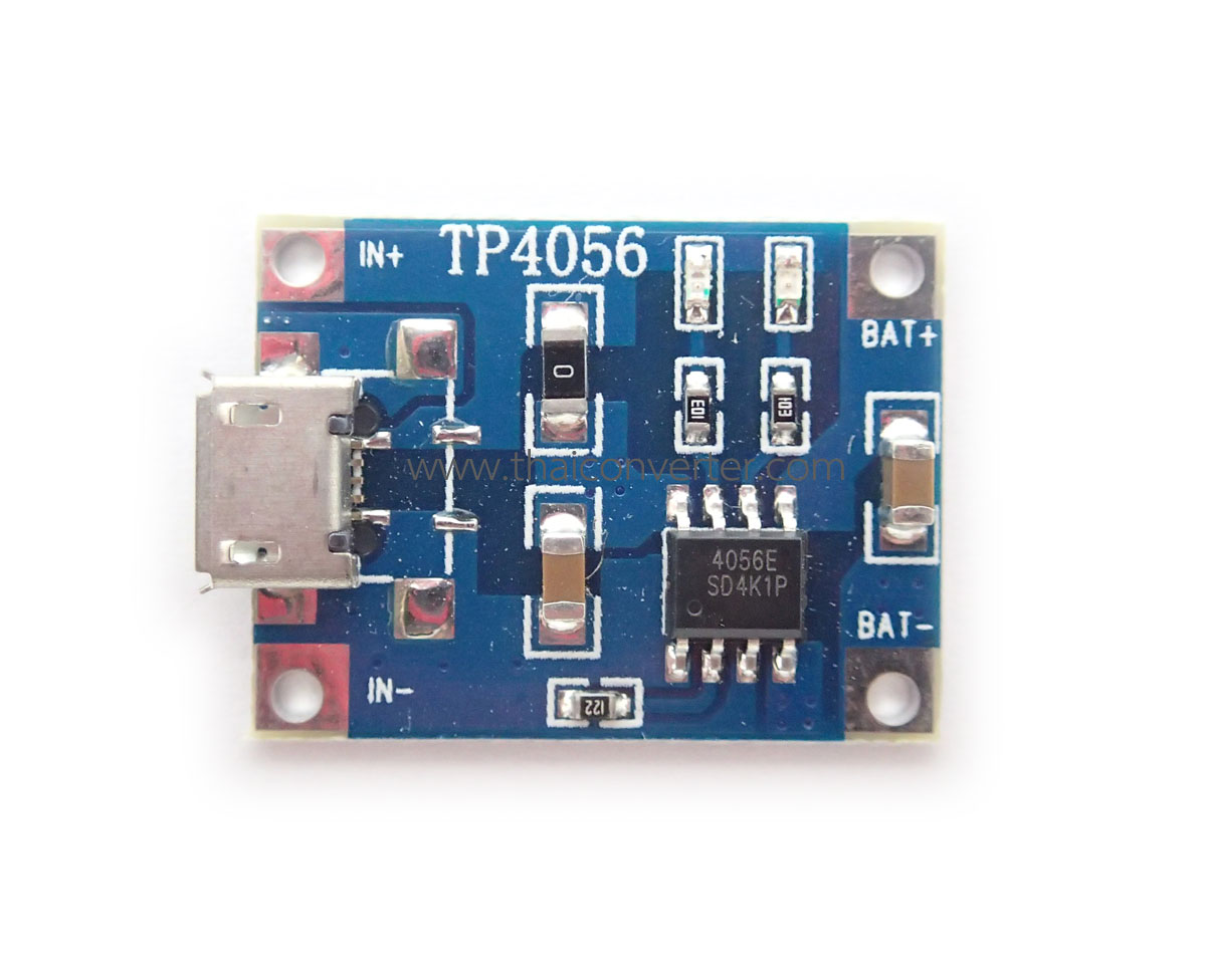 Micro-USB 3.7V 1A 1-Cell Lithium Battery Charger Module