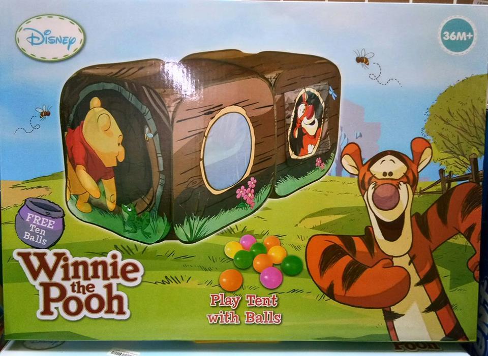 เต็นท์ขอนไม้ลายหมีพูห์ แถมลูกบอล 10 ลูก