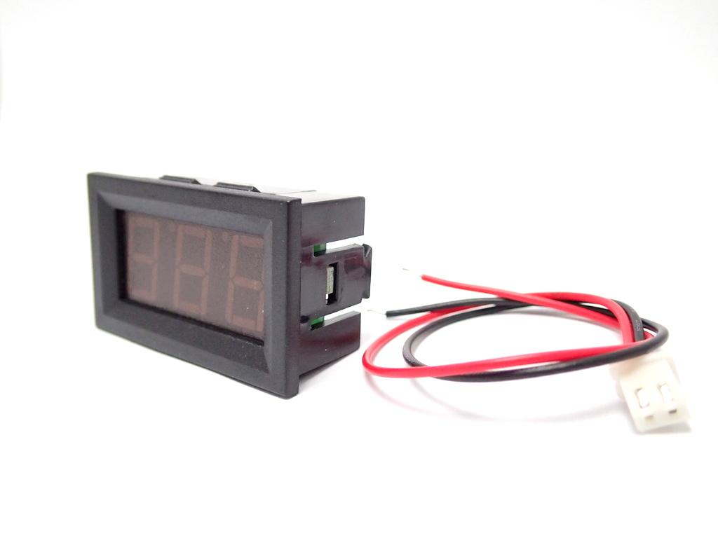 โวลต์มิเตอร์ ดิจิตอล DC 3.2-30V Two-Wire [Red]