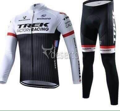 ชุดปั่นจักรยานแขนยาวลายทีม TREK Y3 กางเกงเป้าเจล