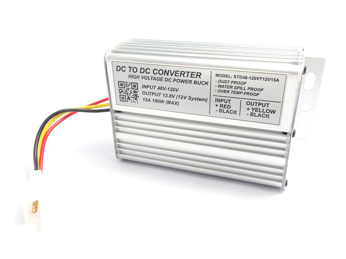 High Voltage DC Step-Down 48-120V to 13.8V 15A 180W