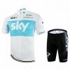 ชุดปั่นจักรยานแขนสั้นลายทีม SKY N66 กางเกงเป้าเจล 20D