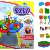 ชุดโต๊ะเล่นทราย ขนาด 59cm.×50cm.×42cm. พร้อมอุปกรณ์เล่นทรายตามภาพ