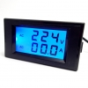 AC 2-in-1 Voltmeter/Ammeter 100-300V 0-50A LCD with Backlight Display [ฺBlackCover]
