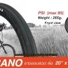 ยางนอก INNOVA ขอบลวด รุ่น TURANO 20X1.35(406) รุ่น IA-2076 60TPI