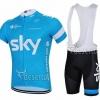 ชุดเอี้ยมแขนสั้นปั่นจักรยานลายทีม SKYI SY3 กางเกงเป้าเจล 3 D