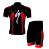 ชุดปั่นจักรยานแขนสั้นลายทีม SPECIALIZED S19 กางเกงเป้าเจล