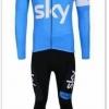 ชุดปั่นจักรยานแขนยาวลายทีม SKY Y1 กางเกงเป้าเจล