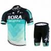 ชุดปั่นจักรยานแขนสั้นลายทีม ฺBORA N66 กางเกงเป้าเจล 20D