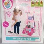ของเล่นเด็กชุดรถเข็นทำความสะอาดพร้อมอุปกรณ์