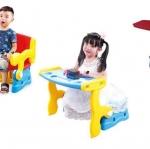 เก้าอี้เด็ก 2in1 เหมาะสำหรับเด็กเล็ก สามารถปรับเป็นเก้าอี้มีพนักพิง