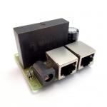 POE Splitter with 48V DC Step-Down to +12V/5V