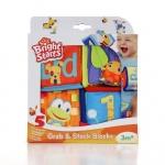 Bright starts บล๊อคของเล่นผ้า Grab & Stack Blocks