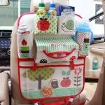 กระเป๋าสัมภาระติดด้านหลังเบาะรถยนต์ สีแดง