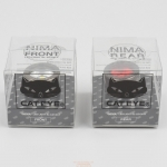 ชุดไฟหน้า/ไฟท้าย CATEYE NIMA, SL-LD130-FR, สีดำ (หน้า/หลัง)