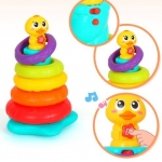 Huile toys ห่วงซ้อนกิจกรรม Stack Rainbow Duck with MusicandLight 897