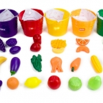 Learning food bucket ชุดเรียนรู้ แยกสี ใส่ถัง