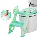 บันไดฝารองนั่งชักโครก สำหรับเด็ก Baby Step Toilet Seat Giraffe สีเขียว
