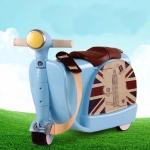 Royalcare กระเป๋าเดินทางล้อลาก นั่งเป็นรถขาไถ สีฟ้า