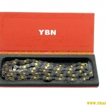 โซ่ YBN / 11sp. / 116L (ไทเทเนียม) เซาะร่อง สีดำทอง