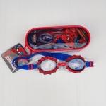 แว่นว่ายน้ำสำหรับเด็ก ลาย Spiderman แดงน้ำเงิน