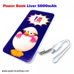 Liver Power Bank แบตเตอรี่สำรองยี่ห้อ Liver ขนาด 5000mAh ลายการ์ตูน