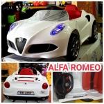 🚗รถแบตALFA ROMEO 2แบต2มอเตอร์ มีรีโมท+ขับเองได้🚕mLKl