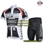 ชุดแขนสั้นปั่นจักรยานลายทีม BMC S7 กางเกงเป้าเจล