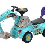 รถแมคโคร โยกตักดินได้ สีฟ้า