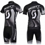 ชุดแขนสั้นปั่นจักรยานลายทีม SCOTT S35 กางเกงเป้าเจล