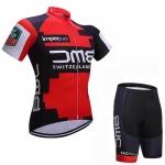 ชุดปั่นจักรยานแขนสั้นลายทีม BMC S55 กางเกงเป้าเจล