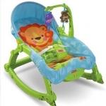 เก้าอี้โยก Fisher Price Newborn To Toddler Rocker, Lizards มีระบบสั่น พับเก็บได้
