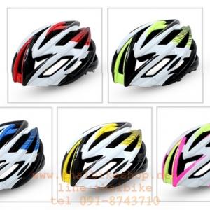 หมวกกันน็อคจักรยาน BATFOX มีแว่นมีไฟด้านหลัง
