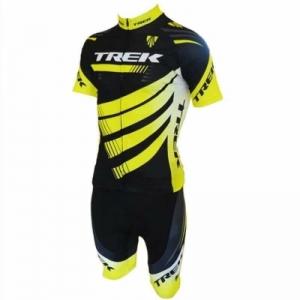ชุดแขนสั้นปั่นจักรยานลายทีม TREK S34 กางเกงเป้าเจล