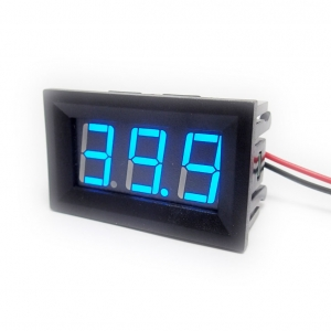 DC Digital Voltmeter 4.5-150V Two-Wire [Blue]