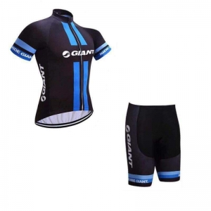ชุดแขนสั้นปั่นจักรยานลายทีม GIANT S52 กางเกงเป้าเจล