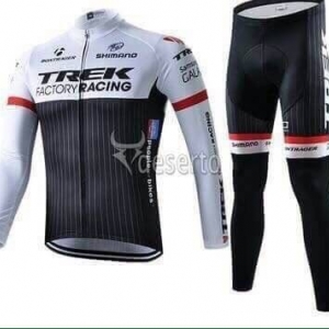 ชุดแขนยาวปั่นจักรยานลายทีม TREK Y3 กางเกงเป้าเจล