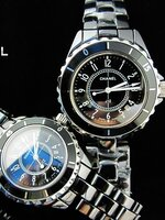 นาฬิกา Chanel J12 Black Diamonds Ceramic หน้าปัดตัวเลข แบบคู่รัก สวยประทับใจ